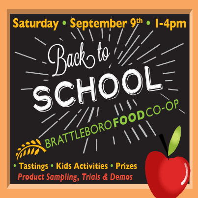 Back to School Day event - Brattleboro Food Co-op