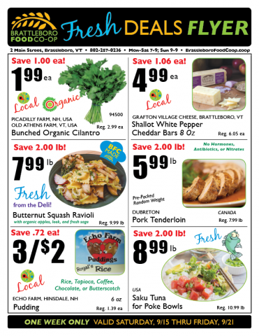 Fresh Deals Flyer 9/15-9/21