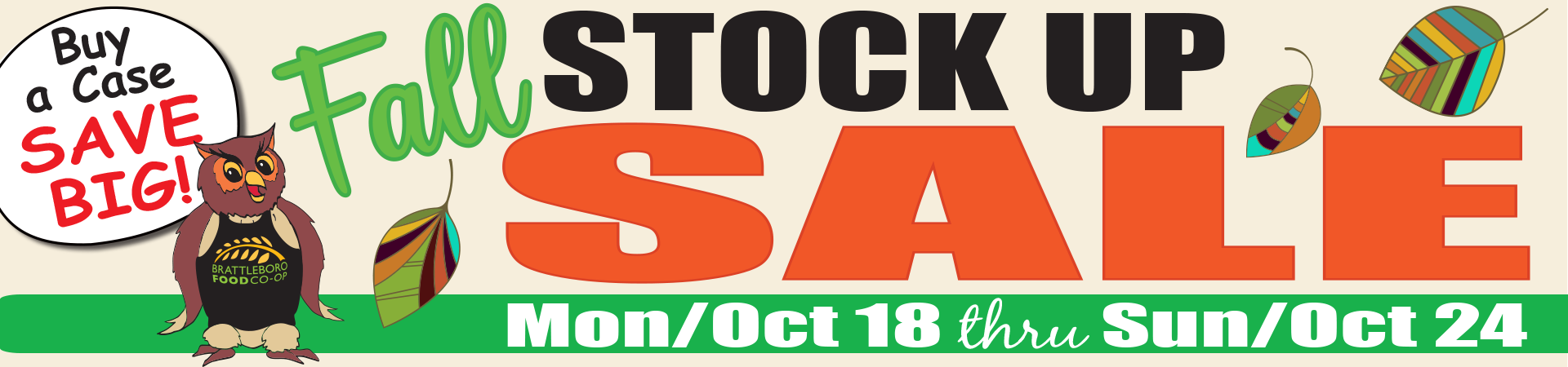 Click to view our Fall Stock Up Sale
