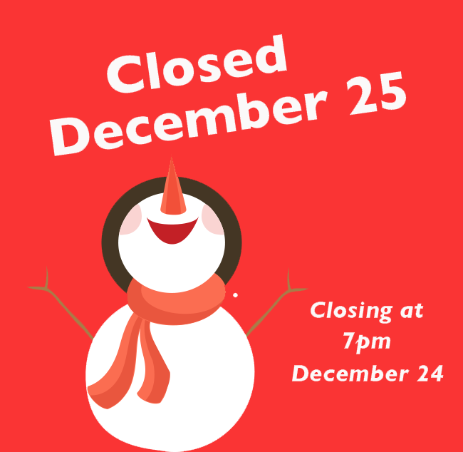 Community Food Co Op Holiday Hours