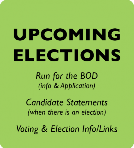UPCOMING ELECTIONS for the Board of Directors