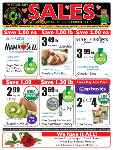 In Store Sales Flyer - February 2020