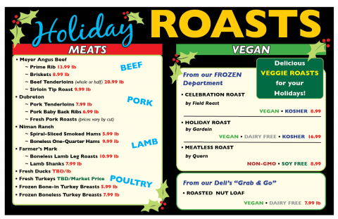 Holiday Roasts from the Co-op