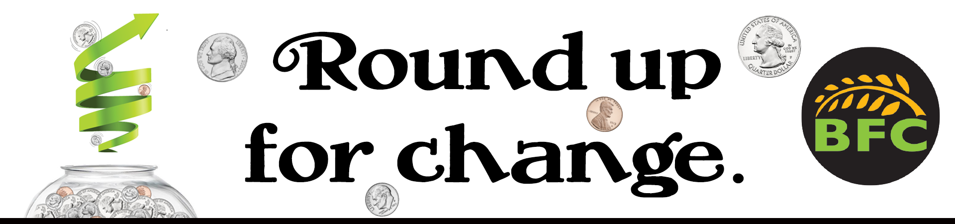 Round up For Change Donation Program