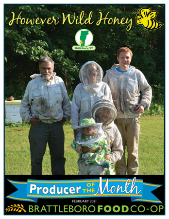 February 2021 Producer of the Month However Wild Honey