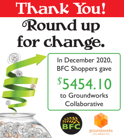 round up for change December 2020