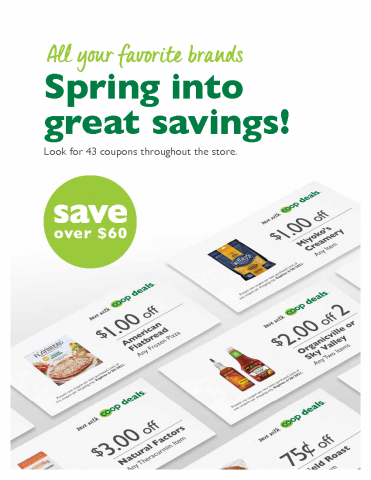 Click for March and April Coop Deals Coupons