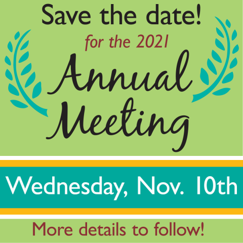 Annual Meeting 2021 SAVE THE DATE