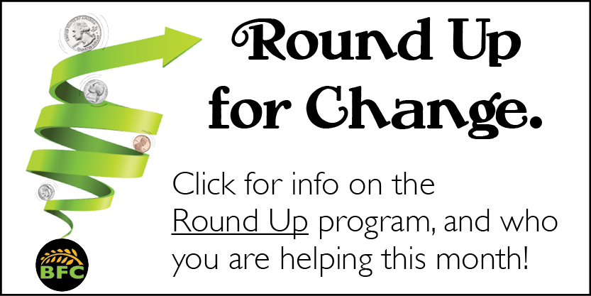 Click to read more about our Round up for change program